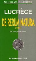 Lucrèce, De rerum natura, Livre I, vers 1 à 634