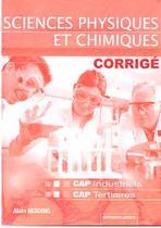Corrigé Sciences physiques et chimiques CAP   CAP industriels et tertiaires