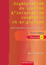 Organisation du système d'information comptable et de gestion - Processus 10
