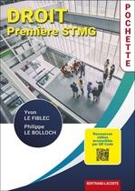 Droit Première STMG - Pochette