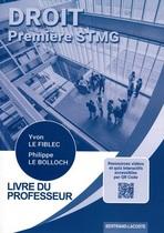 Livre du professeur Droit Première STMG - Pochette - Manuel
