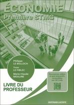 Livre du professeur Économie Première STMG - Pochette - Manuel