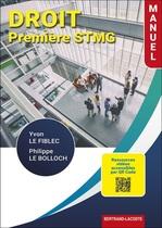 Droit Première STMG - Manuel