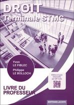 Livre du professeur Droit Terminale STMG