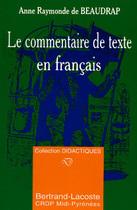 Le commentaire de texte en fran�ais