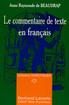 Le commentaire de texte en français